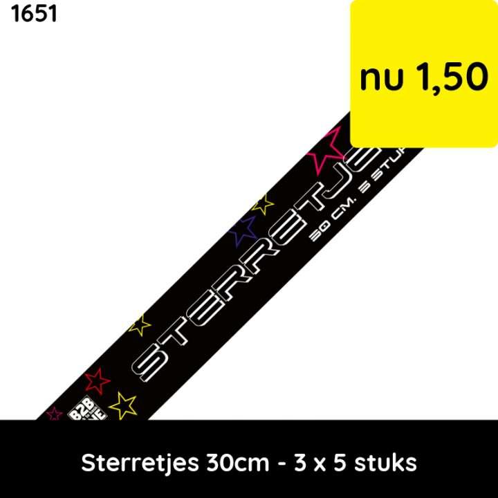 sterretjes 30 cm - 3x5 stuks -  categorie 1 vuurwerk - kindervuurwerk
