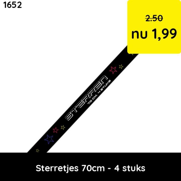sterretjes 70 cm - 4 stuks - categorie 1 vuurwerk - kindervuurwerk