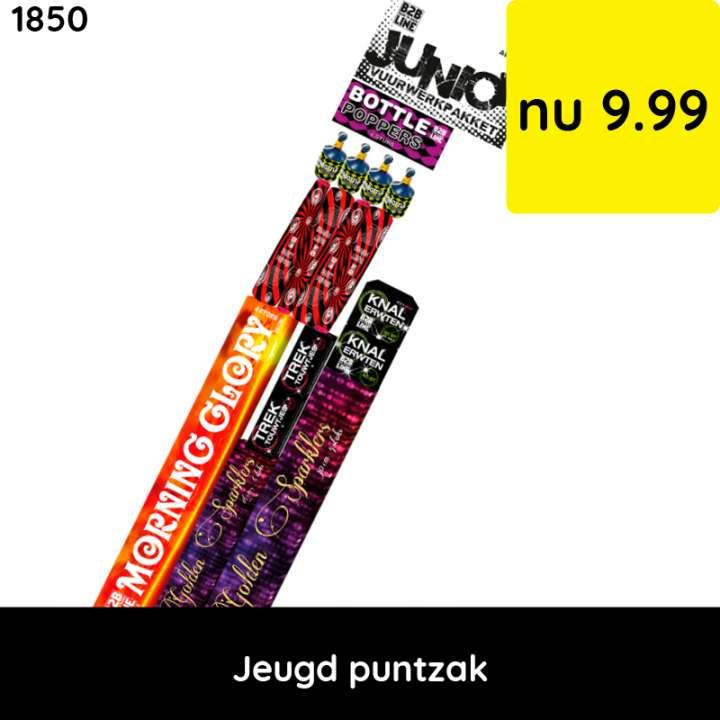 Vuurwerkpakket jeugd puntzak  - categorie 1 vuurwerk - jeugdvuurwerk