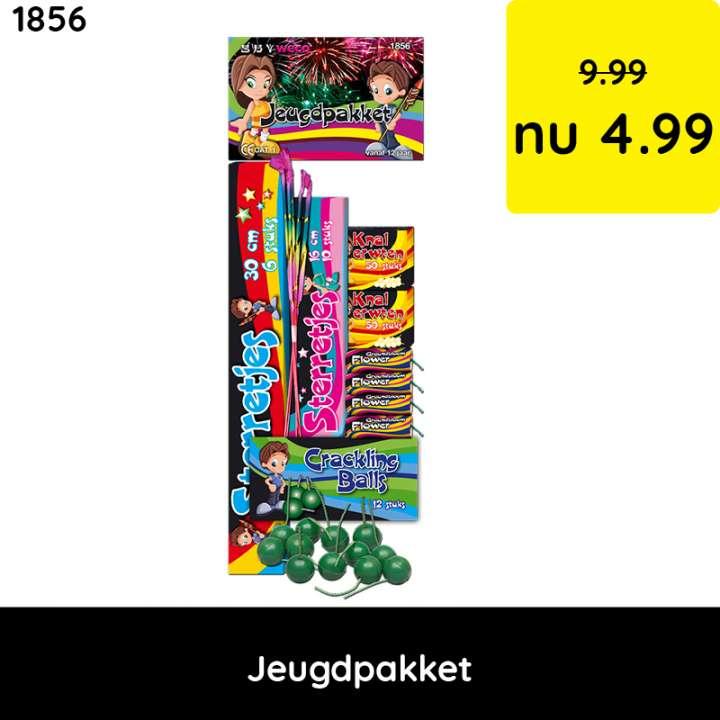 Jeugdpakket - categorie 1 vuurwerk - jeugdvuurwerk
